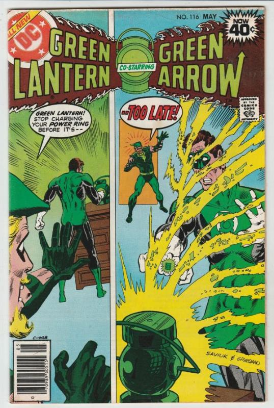 Green Lantern #116 (May-79) VF/NM High-Grade Green Lantern, Green Arrow, Blac...