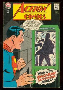 ACTION COMICS #355 1967- SUPERMAN-PHONEBOOTH COVER VG/FN