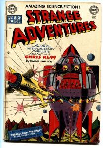 STRANGE ADVENTURES #3 1950-DC-ADOLPH HITLER-ROCKET SHIP-CLASSIC ART-DAN BARRY
