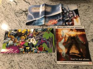 Lot Of 3 Comic Related Posters Star Wars Mini Figures X-Men X-Cutioner Song CR61