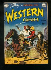 WESTERN COMICS #7 1949-WYOMING KID-RODEO RICK FN-