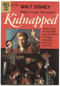 KIDNAPPED #1101-JAMES MACARTHUR PHOTO COVER-DELL FOUR COLOR--1960