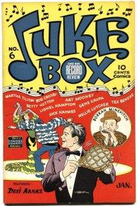 JUKE BOX COMICS #6-1949--DESI ARNAZ--BETTY HUTTON--LTONEL HAMPTON--RARE