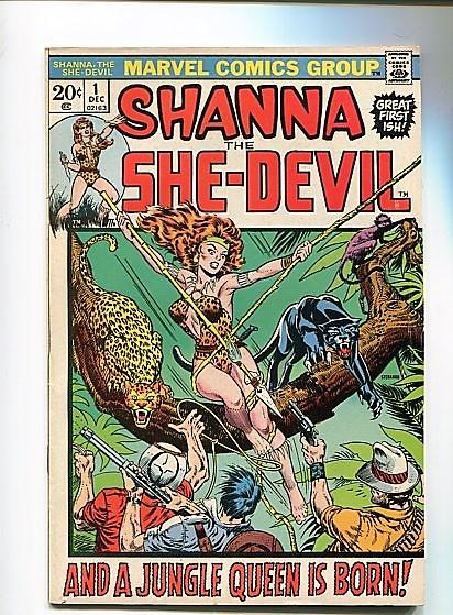 SHANNA THE SHE-DEVIL  #1  (1972)  9.0 (VF/NM)  OW/W PAGES  HI GRADE BRONZE WOW!