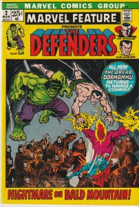 Marvel Feature # 2, 12 The Defenders, The Thing, and Iron Man