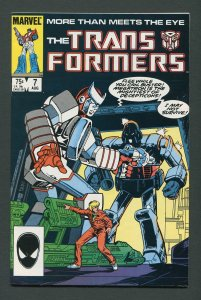 Transformers #7  / 8.0 VFN  August 1985