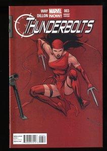 Thunderbolts (2013) #3 NM 9.4 1:50 Billy Tan Variant Elektra