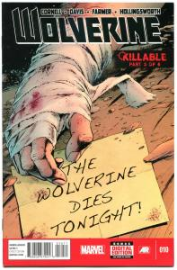 WOLVERINE #10, NM-, Killable, Alan Davis, 2013, more X-men in store