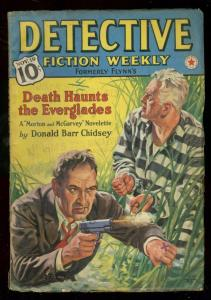 DETECTIVE FICTION-PULP-NOV1938-HUGH B CAVE-EVERGLADES VG