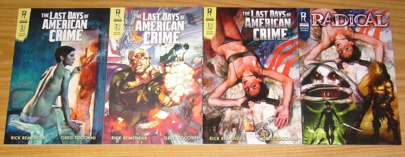 Last Days Of American Crime 1 3 Vf Nm Complete Series Exclusive Preview Hipcomic
