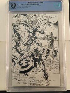 Marvel Comics #1000 9.8 CBCS 1:500 Ratio Joe Quesada B & W Retailer Incentive