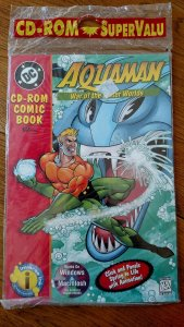 1st Edition Aquaman CD Rom Comic Book Factory Sealed