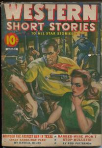 Western Short Stories-Red Circle-pulp-WWII era-western thrills-McCulley-VG