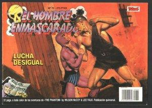 EL Hombre Enmascarado #72 1988-Colosus-Magazine format-Color interior-Spanish...