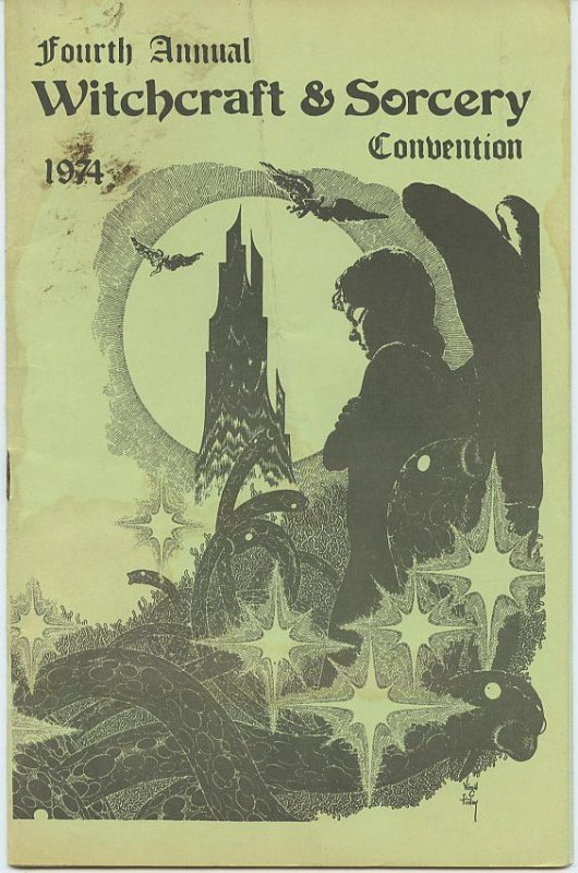 Fourth Annual Witchcraft & Sorcery Convention 1974 - Virgil Finlay cover!