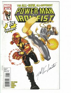 Power Man and Iron Fist #1 VG signed by Fred Van Lente - Luke Cage - Marvel 2011