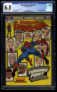 Amazing Spider-Man #121 CGC FN+ 6.5 Off White to White Death of Gwen Stacy!