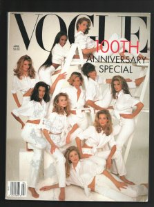Vogue 4/1992-100th Anniversary Special-Cindy Crawford-Claudia Schiffer-Naomi ...
