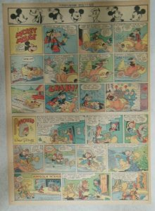 Mickey Mouse Sunday Page by Walt Disney from 2/11/1945 Tabloid Page Size
