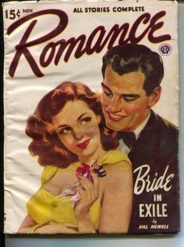 Romance 11/1948-pin-up girl cover-female pulp fiction authors-Bride In ExileVG