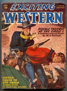 Exciting Western Pulp January 1951- Tombstone & Speedy-WC Tuttle