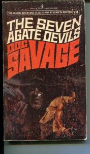 DOC SAVAGE-THE SEVEN AGATE DEVILS-#73-ROBESON-G-FRED PFEIFFER COVER- G