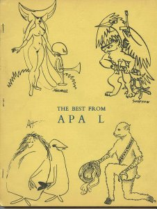 THE BEST FROM APA-L  (LASFS Fanzine, 1965) Rare Zine! Kaiser collection!