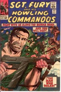 SERGEANT FURY 23 VG  Oct. 1965 COMICS BOOK