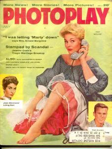 Photoplay-Kim Novak-Grace Kelly-Jeff Hunter-Ernest Borgnine-July-1957