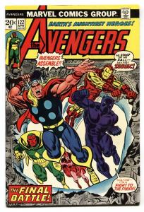 AVENGERS #122-comic book-BLACK PANTHER COVER-Thor captain america-1974