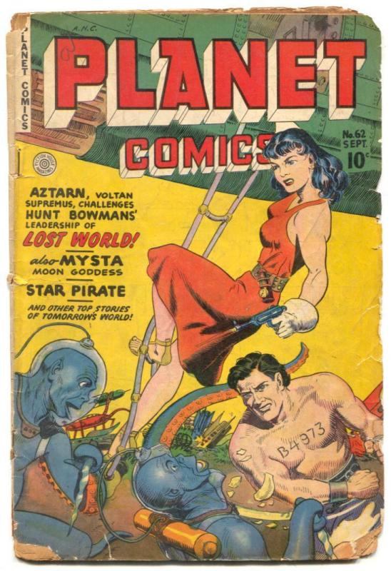 Planet Comics #62 1949- Good girl art- low grade copy