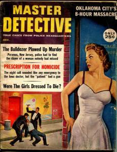 Master Detective 12/1960-TD Pub.-spicy Babe-8 hour massacre-homicide-VG