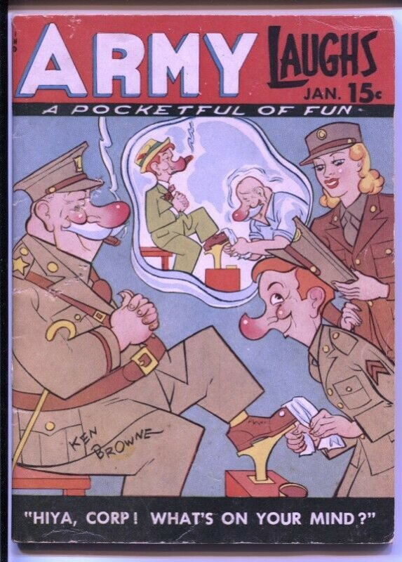 Army Laughs  1/1946-Crestwod-Ken Browne-Joey Oakes-cartoons-gags-FN