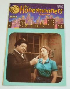 The Honeymooners #1 FN; signed by Vince Musacchia; Triad - Jackie Gleason