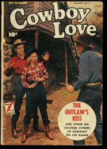 Cowboy Love #6 1949- Fawcett Western Golden Age- Outlaws Kiss G/VG