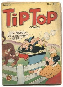 Tip Top Comics #87 1943 Captain and the Kids- Golden Age  incomplete