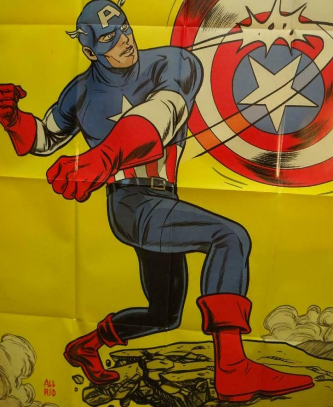 CAPTAIN AMERICA Promo Poster, 24 x 36, 2013, MARVEL Unused more in our store 273