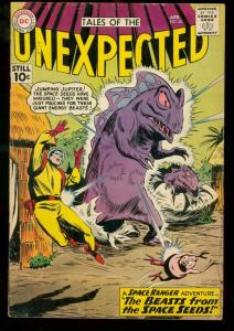 TALES OF THE UNEXPECTED #60 1961 DC SPACE RANGER SCI FI VG-