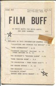 Film Buff  #43-2/1976-Ted Reinhart Western Album-historic film info-VG