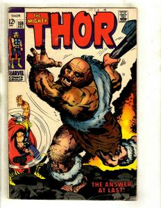 Thor # 159 VF- Marvel Comic Book Loki Odin Sif Avengers Hulk Iron Man GK4
