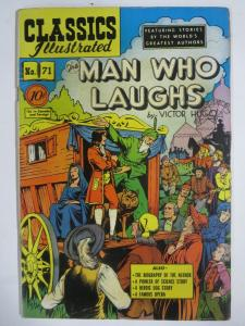 CLASSIC ILLUSTRATED #71 (G-VG) THE MAN WHO LAUGHS (1ST Edition, HRO=71) May 1950