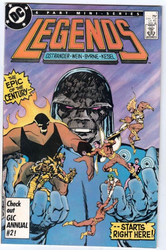 Legends Set #1to6 (Nov-86) NM- High-Grade Suicide Squad