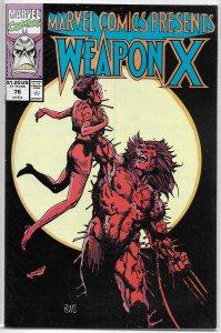 Marvel Comics Presents   vol. 1   # 76 FN/VF Weapon X/Shanna