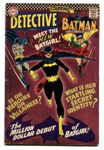 Detective #359 1st appearance of BARBARA GORDON BATGIRL comic book vg