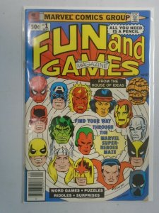 Marvel Fun and Games #1 3.5 VG- Puzzles not done (1979)