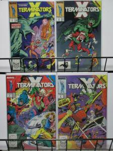 X TERMINATORS (1988)1-4  X-MEN SPIN-OFF !