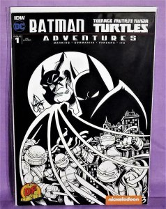 Batman Teenage Mutant Ninja Turtles Adventures #1 Signed & Remarked (IDW, 2016)!