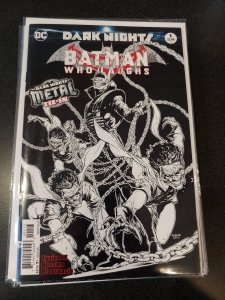 BATMAN WHO LAUGHS #1 3RD PTG VARIANT COVER DARK METAL THIRD PRINT SKETCH