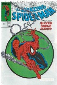 Amazing Spiderman #301 VINTAGE 2000 Marvel Legends Reprint Silver Sable