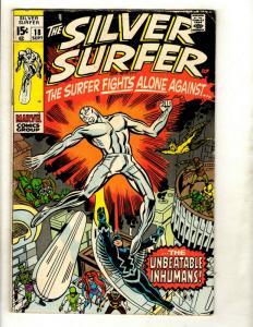 Silver Surfer # 18 VG Marvel Comic Book Avengers Fantastic Four Galactus GK1